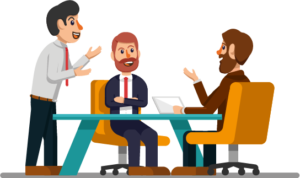 business discuss vector
