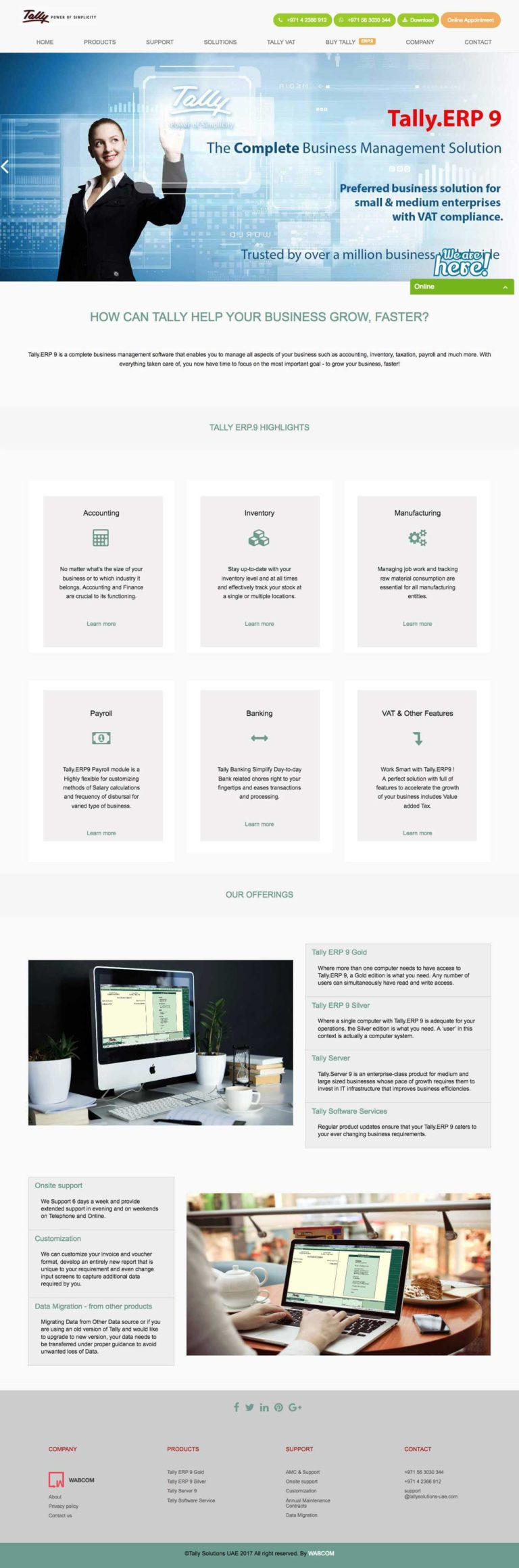 Website UI design